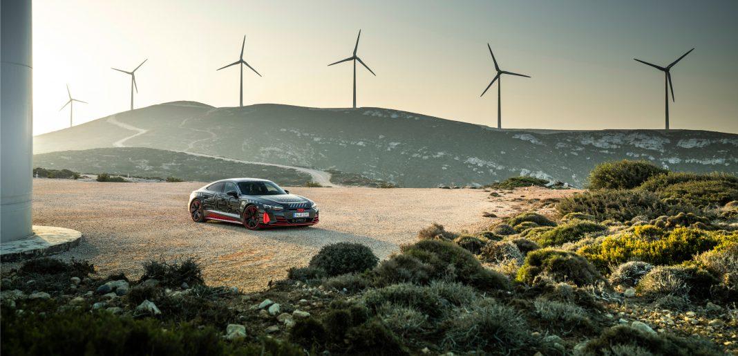 Audi e-tron GT v předprodukčním provedení