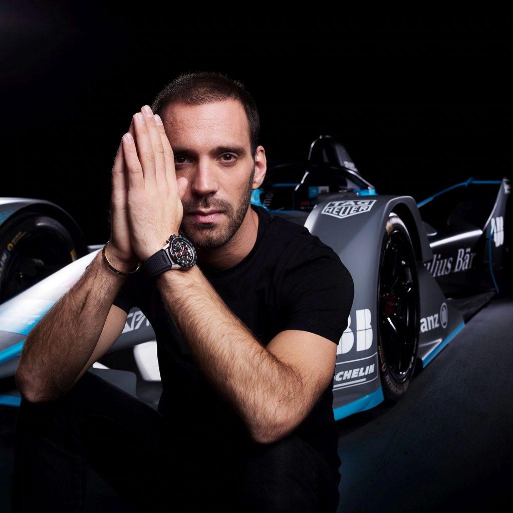 Pilot týmu formule E DS TECHEETAH Franouz Jean-Eric Vergne je ambasadorem TAG Heuer