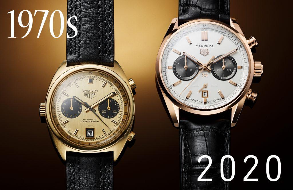 Model Heuer Carrera 1158CHN ze 70. let minulého století byl inspirací pro limitovanou narozeninovou eidici TAG Heuer Carrera Chronograph Jack Heuer Birthday Gold Limited Edition
