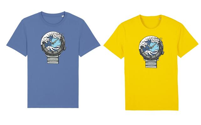 Bavlněná trička jsou k dispozici v pánských velikostech XXS-5XL v zářivě žluté a šmolkově modré barvě