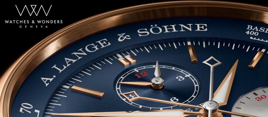 A. Lange & Söhne Triple Split v provedení s pouzdrem z růžového zlata a s modrým číselníkem