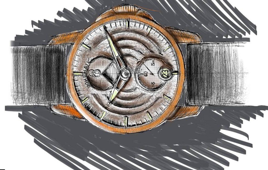 Skica chystané třetí modelové řady manufaktury Bohematic