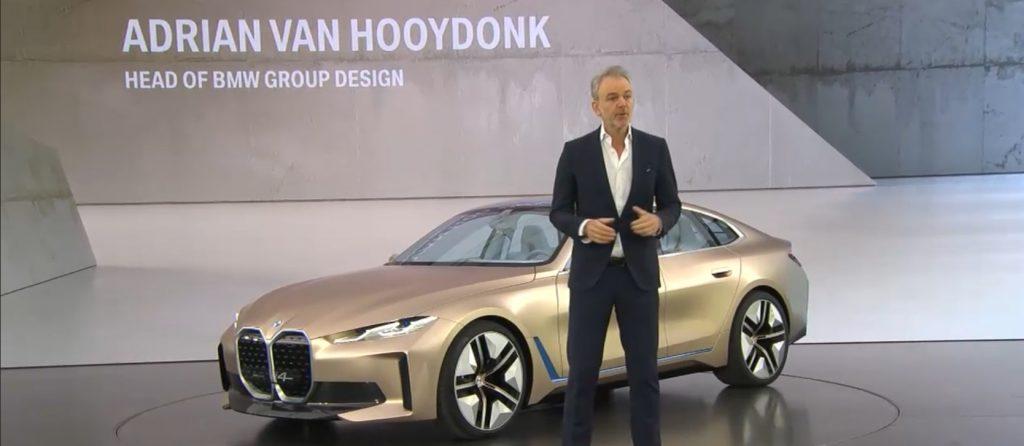 O designových přednostek BMW Concept i4 hovořil Adrian van Hooydonk, Senior Vice President BMW Group Design
