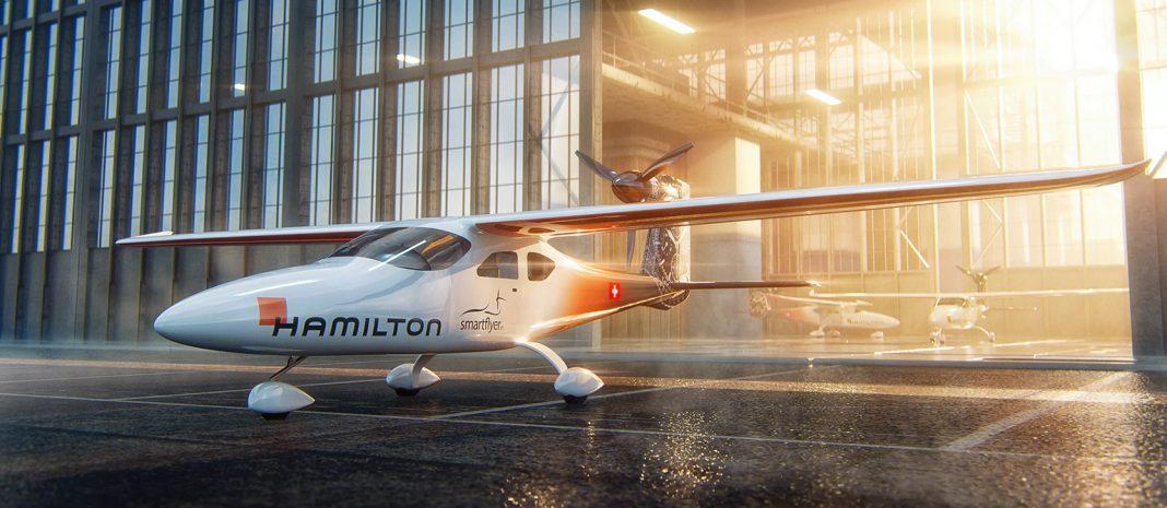 Hybridní elektrické letadlo SFX1